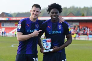 Pelly-Ruddock Mpanzu picked up the MOM award at Accrington