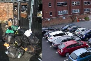 A resident's photos of Woodstock's bins and car park even before a new floor is added.