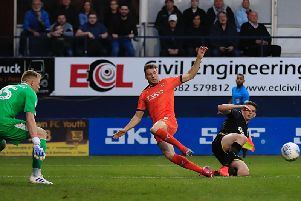 Jack Stacey sets up another chance for the Hatters on Tuesday night