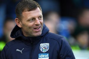 New Luton boss Graeme Jones in his role at West Bromwich Albion