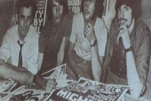 John Fowler, Adrian Roach, Terry Harms and David Stopps who organised the early events. Mr Pike is not pictured as he also worked at Aylesbury Grammar School as a chemistry teacher and felt it would clash with that role at the time