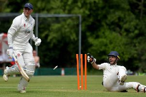 Action from Horton House IIs' clash with Wollaston (Pictures: Dave Ikin)