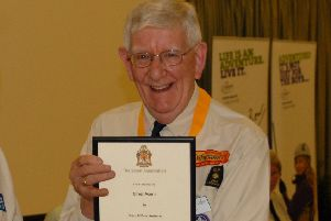 Scout stalwart Peter Sutherst received a Silver Acorn award in 2011