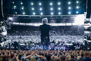 Bon Jovi on stage. Picture: David Jackson