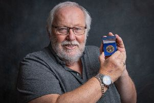 David Robertson with his medal from Diabetes UK. Photo Credit: Nikki Goodeve, The Photography Fairy SUS-190907-132925001
