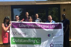 Liberty house is thrilled to have achieved the 'Outstanding' rating