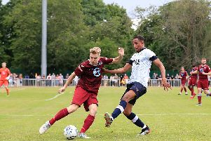Brendan Galloway in action against Welwyn on Saturday