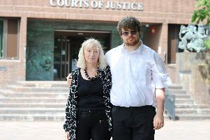 Iain Shepherd, 56, of Bognor Regis, has been jailed for three years and eight months after pleading guilty to stealing more than 58,000 from his stepson's inheritance.'Pictured is Mary Shepherd with her son Joshua Powell. Photo: Sarah Standing (090719-3773)