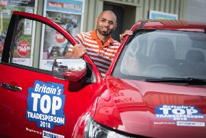 Stuart Roache was last year's winner of the annual Screwfix competition.