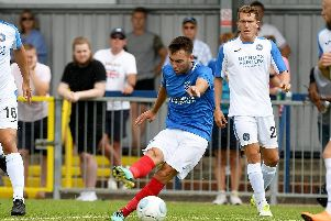 Pompey midfielder Ben Close in action against the Hawks last season. Picture: Neil Marshall