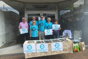 Members of the Mid Sussex Brexit Party From left to right :  Gerry Carter, Graham Pottinger, Janet Finch, Tim Cooper,  Helen Smith & Jenny Carter.