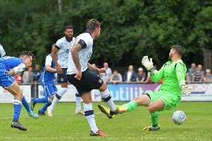 George Moncur opens the scoring for Luton on Saturday