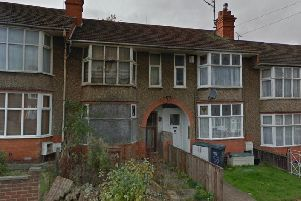 The derelict house in Murray Avenue, Northampton. Photo: Google
