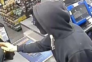 The robber raided the store in Warblington on July 14. Picture: Hampshire Constabulary
