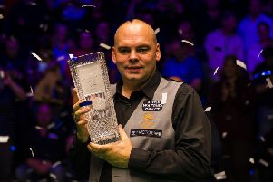 English Open winner Stuart Bingham. Picture courtesy of World Snooker