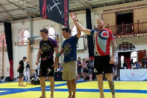 Alex (right) is victorious!