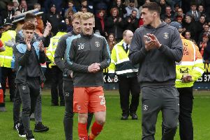 Flynn Downes was on loan with the Hatters as they won promotion from League One