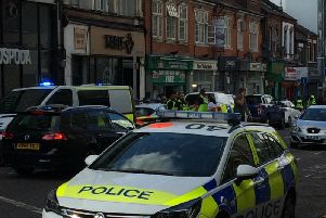 The scene at Chapel Street yesterday