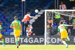 Harry Cornick puts Luton 1-0 in front this afternoon