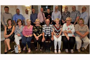 Some of the 'boys and girls' who were pupils of Primary 6-7 at Camphill School pictured at a Reunion on Friday, August 16, when they came together to remember the halcyon days of 1972.