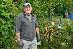 First place winner in the best allotment category is Alan Rice.