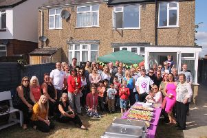 Some of the traders, some children who were on NICU, L&D Fundraising staff and some volunteers at the barbeque