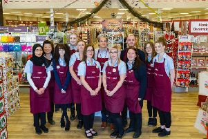 Hobbycraft staff for the new Luton store