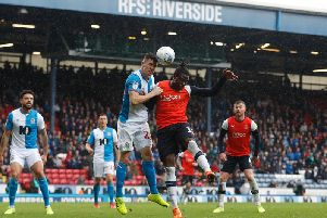 Pelly-Ruddock Mpanzu goes up for an aerial challenge