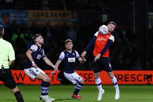 Ryan Tunnicliffe chests the ball down against Millwall on Tuesday