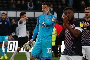 Simon Sluga can't hide his emotion at the end of the game on Saturday