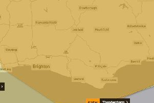An amber weather warning has now been issued