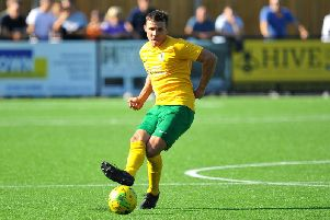 Lea Dawson netted Horshams fourth in their win over Merstham. Picture by Steve Robards