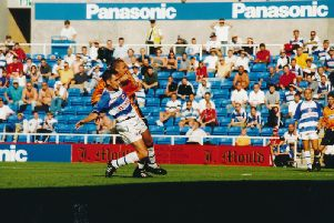 Liam George scores Luton's only winner at the Madejski Stadium back in 1999