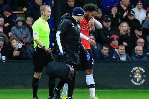 Izzy Brown was forced off with injury on Saturday