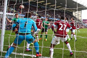 Sean Raggett scores Lincoln's winner against Burnley in the 2016-17 FA Cup   Picture: Clive Brunskill/Getty Images