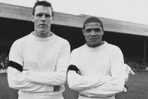 Albert Johanneson, right, is the reason why Town legend Ricky Hill supports Leeds United