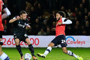 Izzy Brown moves the ball against Charlton on Tuesday night