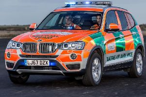 A Magpas rapid response vehicle rushed to the scene