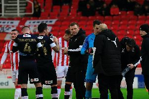 Luton were beaten 3-0 by Stoke City last night
