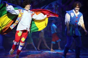 Joe Pasquale and Lee Mead in Aladdin