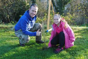 Planting trees at southfields
