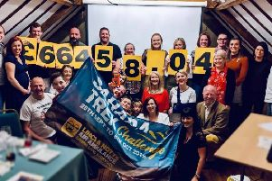 Team members who raised more than �66,000 for the Lincolnshire and Nottinghamshire Air Ambulance