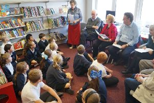 Members of the West Wold Writers group entertained pupils from Eagles Class with their Lincolnshire-themed stories and poems to mark Lincolnshie day EMN-180110-080934001