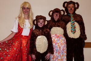 Goldilocks and the bears are ready to entertain
