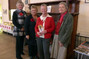 Hazel Barnard (centre right) of Rase Heritage Society was the speaker at Holton le Moor WI Meeting in November.'Photo Carole Ardron EMN-181123-104423001
