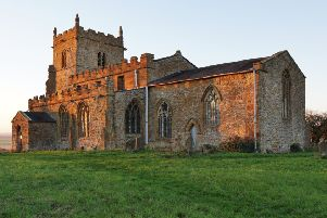 All Saints Churh on the hill overlooking Walesby. Photo by Angela Mayne