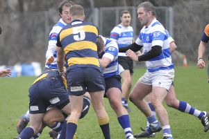 Action from Hastings & Bexhill's last home game, against Old Williamsonians, on January 5