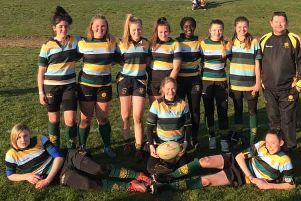 Pictured are the Borough Under 15 Girls players who represented East Midlands.