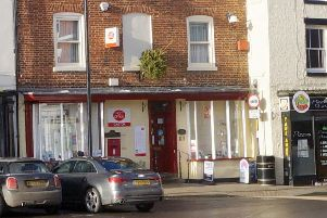 Caistor Post Office in the town's Market Place