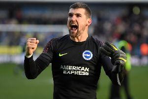 Brighton & Hove Albion goalkeeper Mathew Ryan. Picture courtesy of Getty Images.